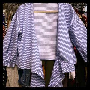 Zara Blue and White Shirt